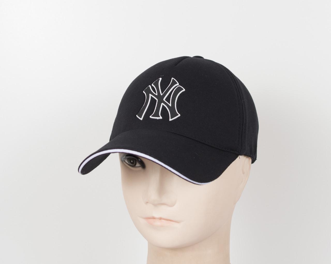 "Бейсболка ""Трикотаж х/б 5кл"" NY черный"