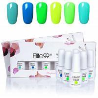 6 цветов флуоресценции Elite99 УФ LED замочить off гель лак для ногтей набор 01#