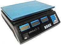 Торговые настольные электронные весы чёрные 50кг с металлической платформой