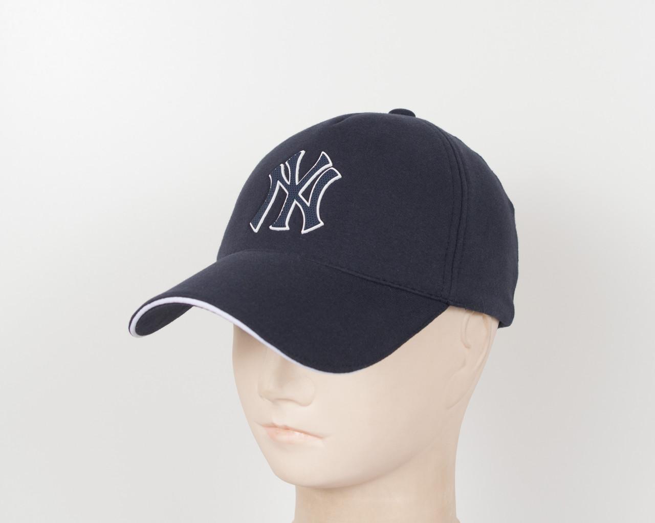 "Бейсболка ""Трикотаж х/б 5кл"" NY синий"