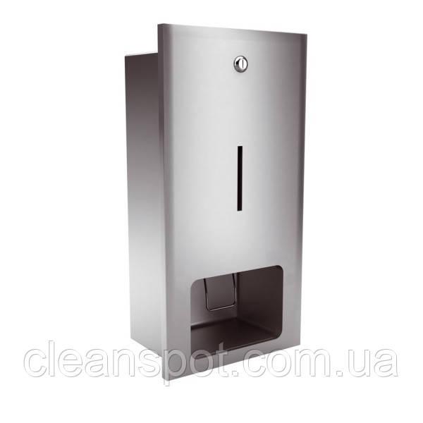 Дозатор жидкого мыла матовый встраиваемый в стену