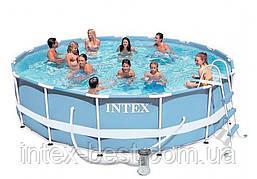 Каркасный бассейн 366х99см + аксессуары intex 28218/28718