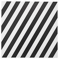 """ИКЕА """"ПИПИГ"""" Салфетка под приборы, в полоску, черный/белый"""