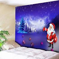 Печать Санта-Клауса Рождественские Стены Гобелен ширина59дюймов*длина51дюйм