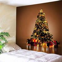 Настенный Декор Рождественский Подарок Дерево Печати Гобелен ширина59дюймов*длина51дюйм