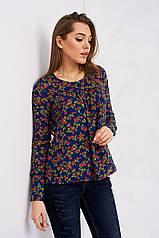 Женская блузка в цветочек Сафика, синяя