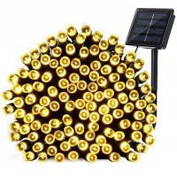 КВБ Солнечная светодиодные Рождественские огни 7м 50Balls Фея декоративные огни строки для украшения праздника Тёпло-белый