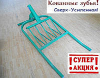 Чудо лопата Пахарь (кованные зубья) Cверх-Усиленная! (350/430/510мм)