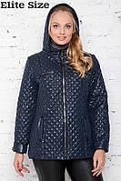 Весенне-осенняя стеганная женская куртка большой размер Производитель  Украина ТМ Elite Size 50,52 df18d2b1395