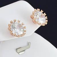 Прелестные серьги с кристаллами Swarovski, покрытые золотом 0670