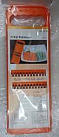 Терка для корейской моркови 11х26см оранж.