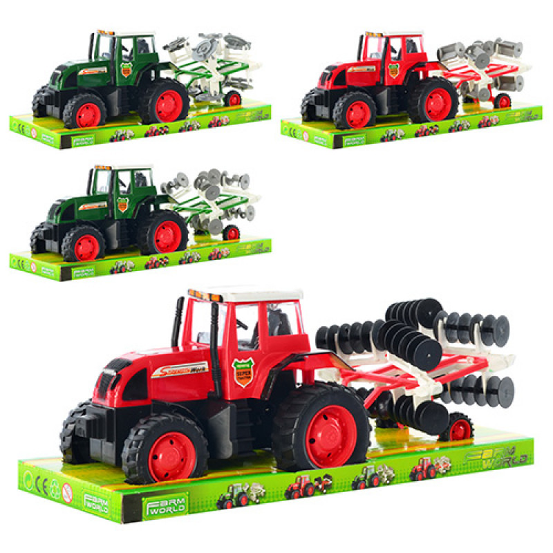 Трактор 2033 AD інерційний, 4 види, в блістері