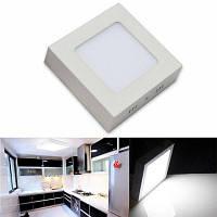 Светодиодная панель света 6w светодиодные потолочные светильники поверхностного монтажа AC 85-265V квадратный светодиодный потолочный светильник