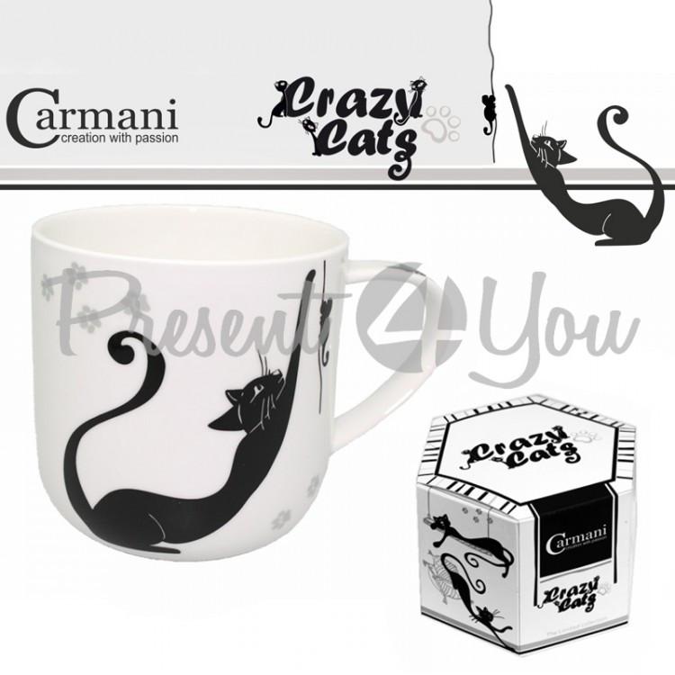 Кружка «Белые и черные кошки» Carmani, 500 мл (017-2001)