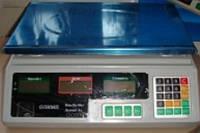 Торговые настольные электронные весы белые 50кг с металлической платформой