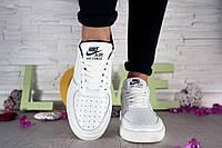 Женские белые кеды Nike AirForce White реплика