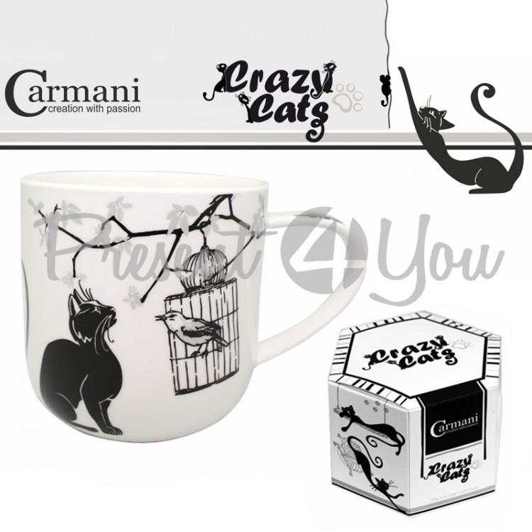 Кружка «Белые и черные кошки» Carmani, 500 мл (017-2009)