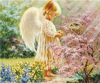 """Набор для рисования камнями """"Ангелочек в саду"""""""