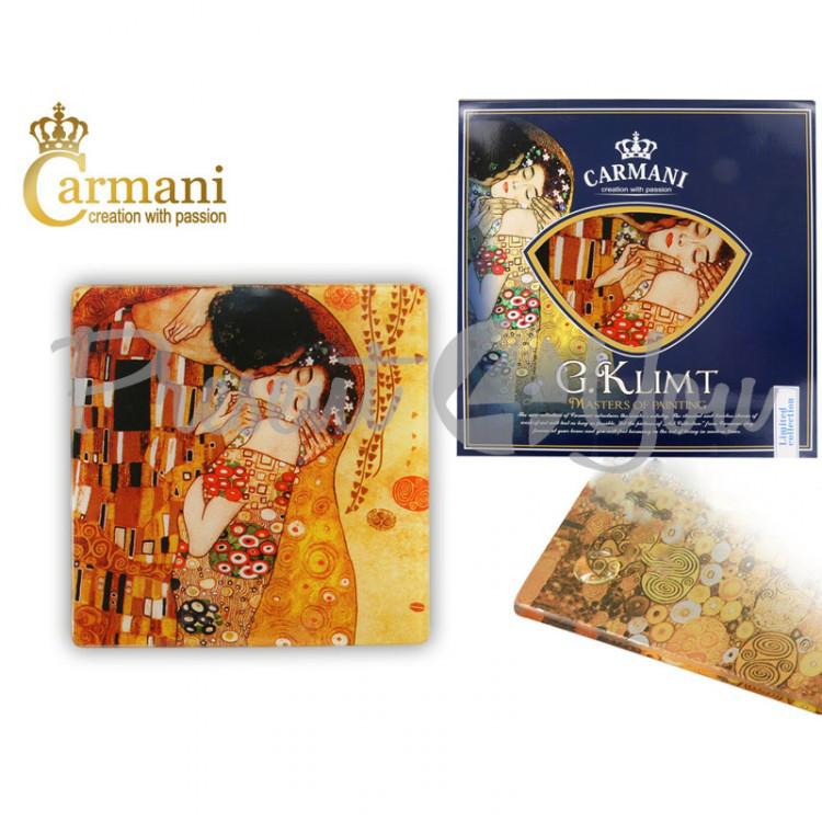 Подставка стеклянная Г.Климт «Поцелуй», 10,5х10,5 см (198-2801)