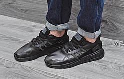 Мужские Кросcовки  Adidas equipment adv  кожа черные (реплика)