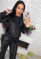Модный женский костюм из экокожи , фото 1