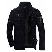 Куртка На Молнии С Нашивками И Погонами 5XL