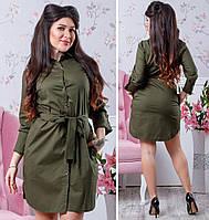 Платье - рубашка женское полубатал КБЕ49