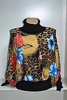 Стильный женский джемпер длинный рукав принт, фото 1