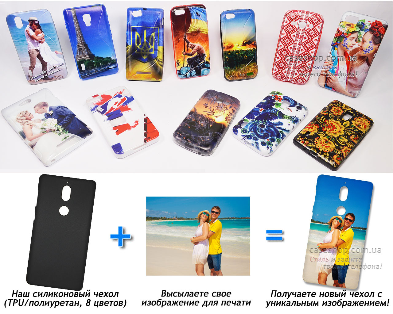 Печать на чехле для Nokia 7 (Cиликон/TPU)