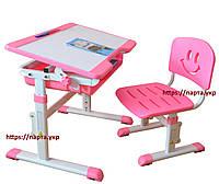 Детский стол и стул для дома YK-15, ниша, розовый