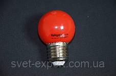 Лампа Navigator 71827 NLL-G45-1-230-R-E27 світлодіодна,кулька червона,1W, фото 3
