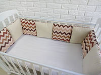 Защита в кроватку, бортики подушки «Тирамису»