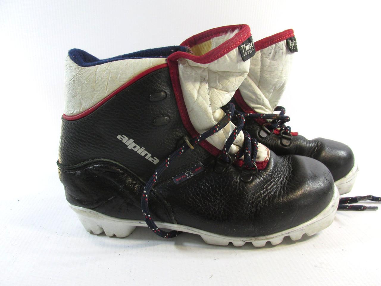 Ботинки лыжные ALPINA ALPITEX NNN, кожа, Утепленные, 21.5 см, Отл сост!
