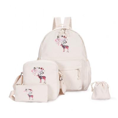 Модный рюкзак с принтом оленя 4 в 1