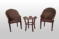 """Кофейный комплект из дерева """"Кобра"""" столик+2 кресла"""