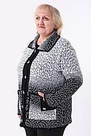 Кофта женская Бабушка-АЛ (чёрный/белый)