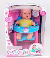 Пупс baby born со стульчиком для кормления, столик, бутылочка, ложечка, тарелочка, 8926