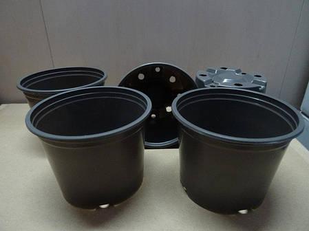 Горшки стаканчики для рассады с перфорацией ∅ 9 см. 370 мл. (65 шт в упаковке), фото 2