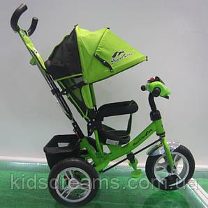Детский Велосипед 3-х колесный TR17011, надувные колеса,складной козырёк