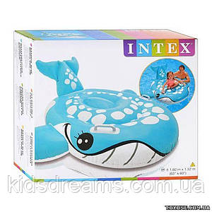 Intex Плотик 57527 синий кит 160-152см 255-23-85см
