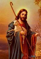 """Набор для рисования камнями """"Иисус пастырь"""""""