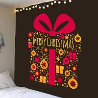Рождественский Подарок Напечатаны Настенный Гобелен ширина59дюймов*длина51дюйм