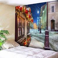 Рождественская Уличная Печать Настенный Гобелен W79 дюймов * L71 дюйм