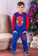 """Спортивный костюм для мальчика. Теплый костюм с начесом """"Спайдермен"""""""