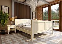 Кровать деревянная полуторная Глория с высоким изножъем