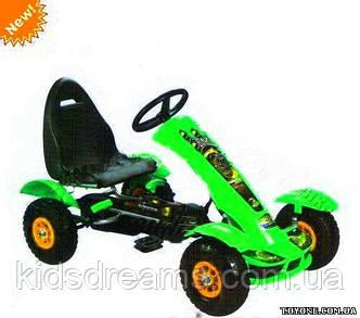 Детская педальная машина веломобиль M 1450-5 зеленая