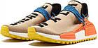 Мужские кроссовки Adidas NMD Human Race Trail Pharrell Williams (в стиле Адидас НМД) бежевые, фото 6