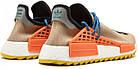 Мужские кроссовки Adidas NMD Human Race Trail Pharrell Williams (в стиле Адидас НМД) бежевые, фото 7