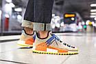 Мужские кроссовки Adidas NMD Human Race Trail Pharrell Williams (в стиле Адидас НМД) бежевые, фото 3