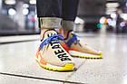 Мужские кроссовки Adidas NMD Human Race Trail Pharrell Williams (в стиле Адидас НМД) бежевые, фото 2